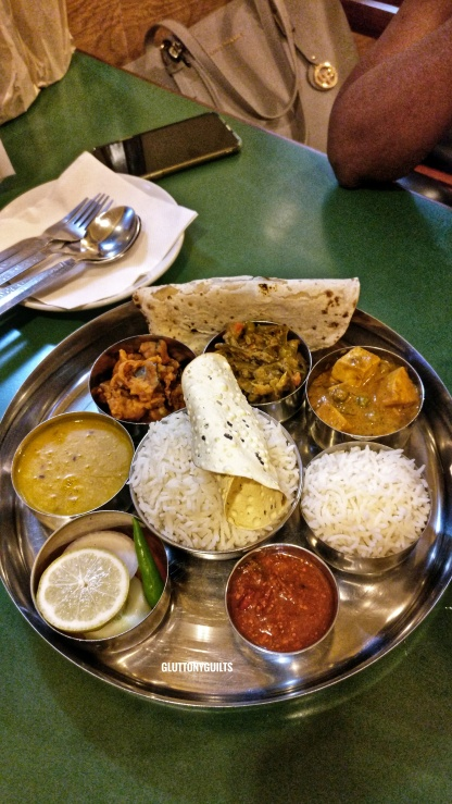 North Indian Thali at Amma restaurant